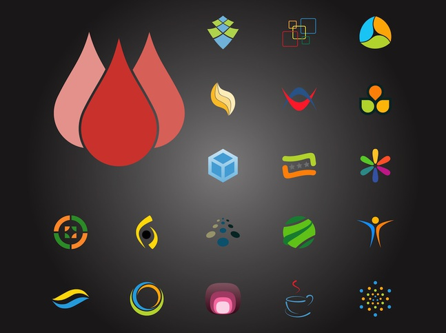 Colorful Logo Pack vector free