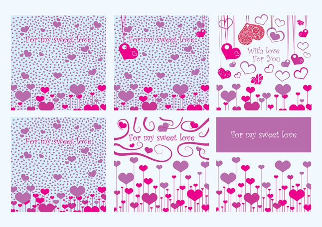 Valentine Card Vectors free