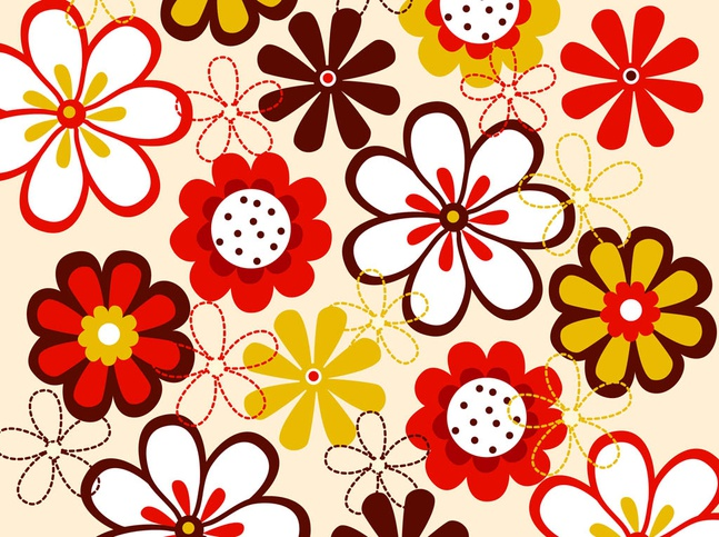 Vector Flowers Pattern free