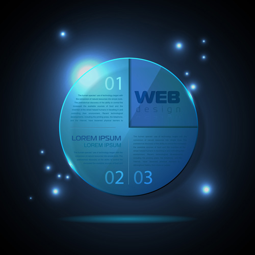 Blue web infographics template design vector 08 free
