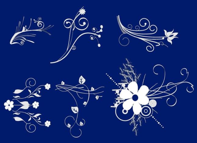 Flower Scrolls vector free