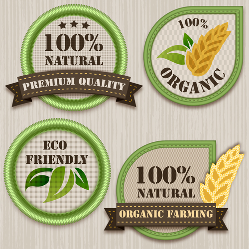 Green eco labels vector set free