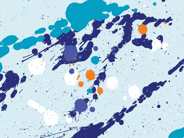 Multicolored Splatter Vector free