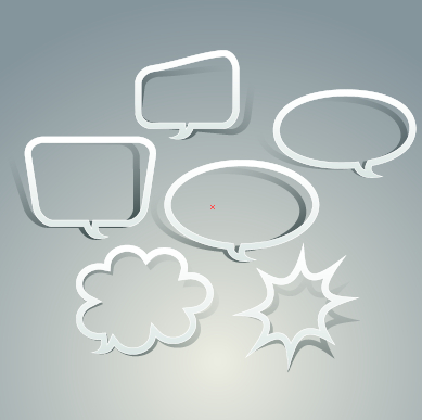Outline speech bubble design vector free