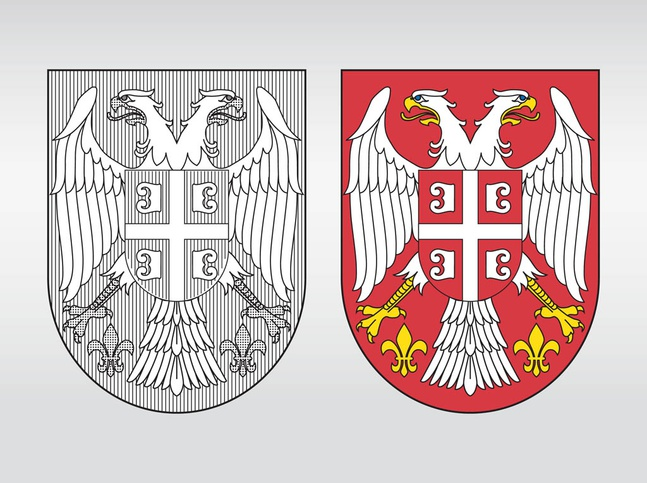 Serbia Coat Of Arms vector free