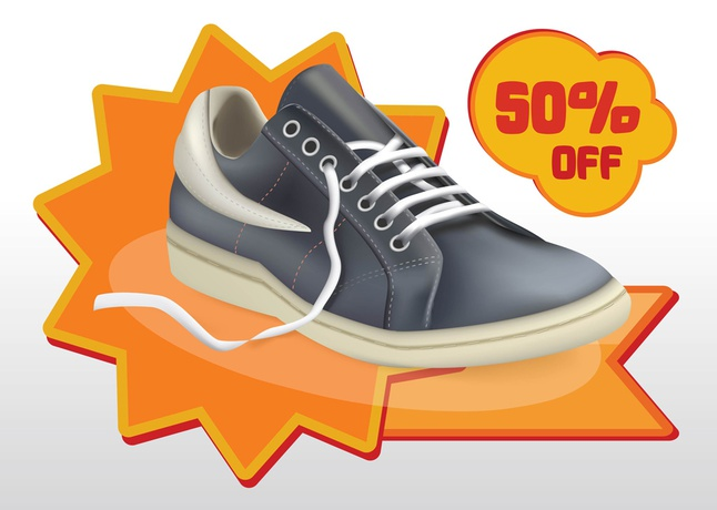 Shoes Sale Vector free