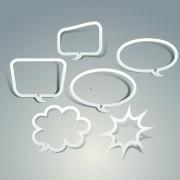 Outline speech bubble design vector free