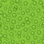 Transparent water drops with green background vector seamless pattern free