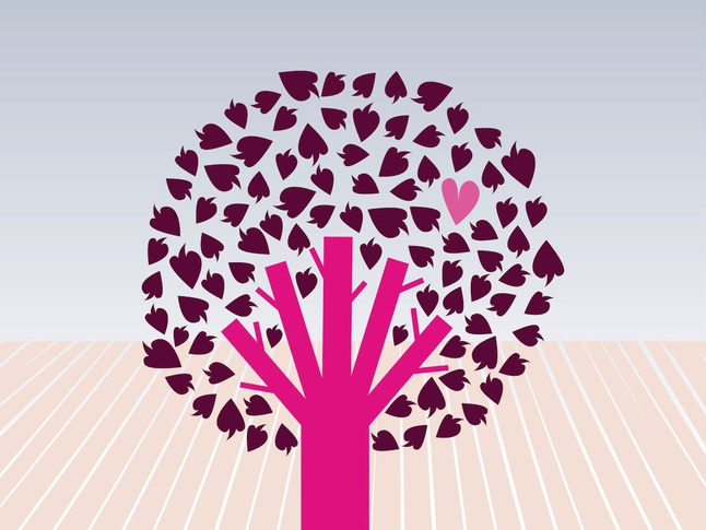 Tree Of Love vector free