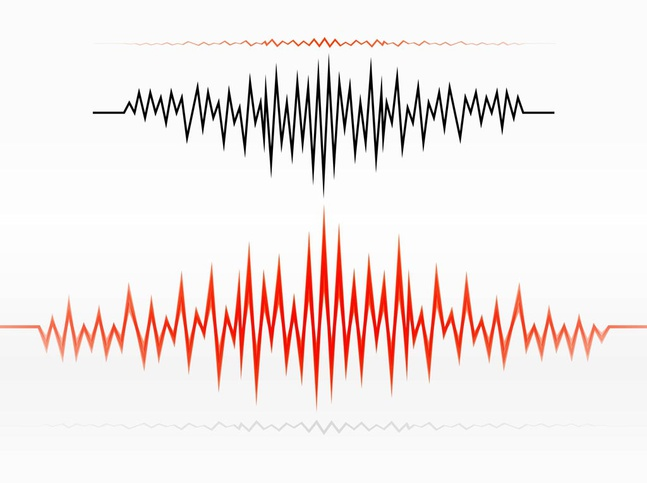 Audio Wave Design vector free