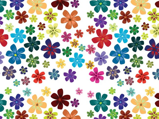 Flower Blossoms Pattern vector free