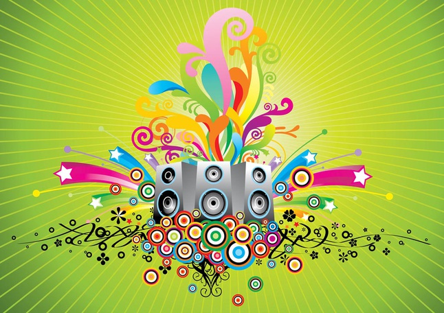 Music Speakers Vector free