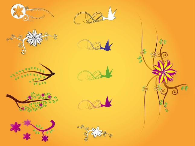 Nature Illustrations vector free