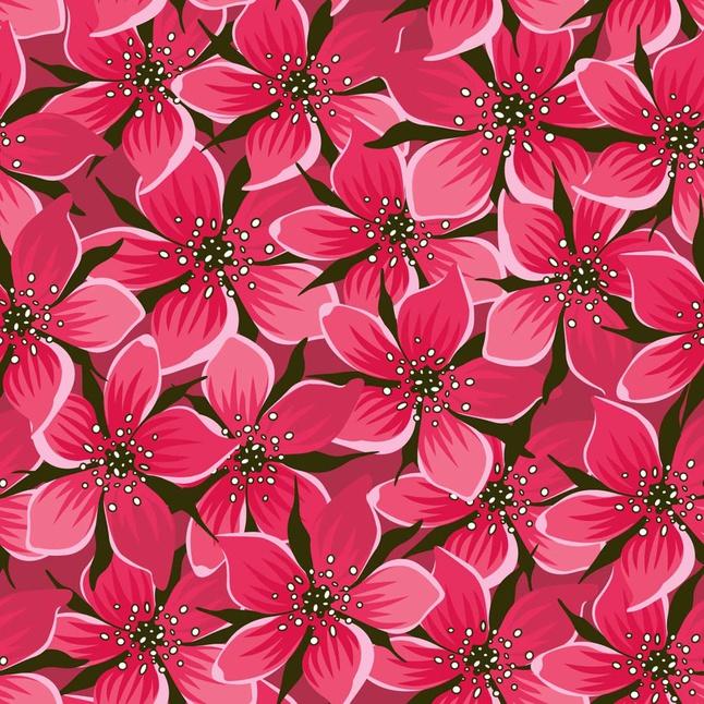 Pink Flowers vector free