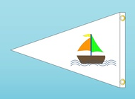 Boat Flag vector free