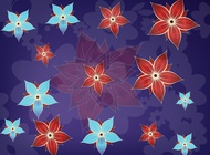 Cute Flowers Composition vector free