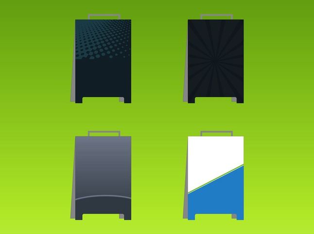 Advertising Boards vector free