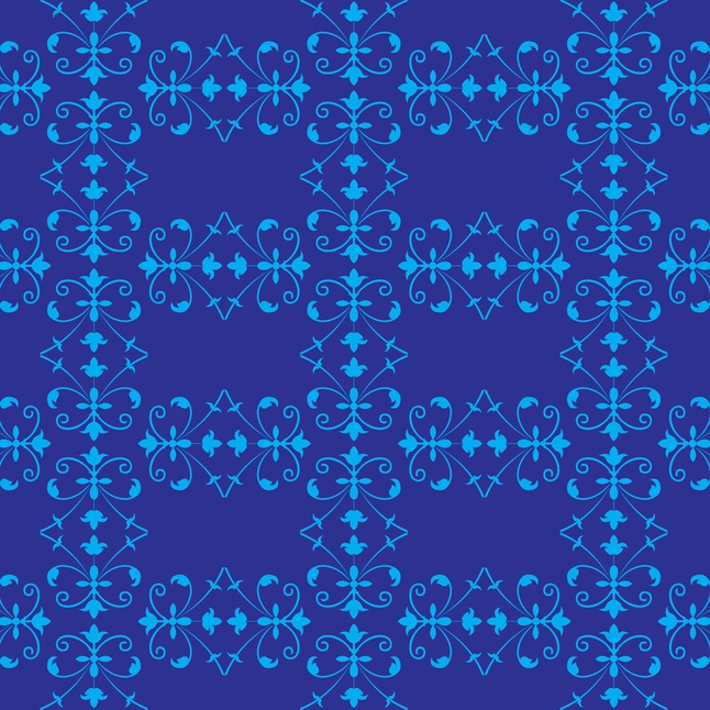 Blue Flowers Pattern vector free
