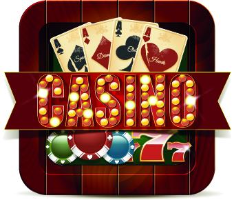 Casino elements creative design vector 01 free