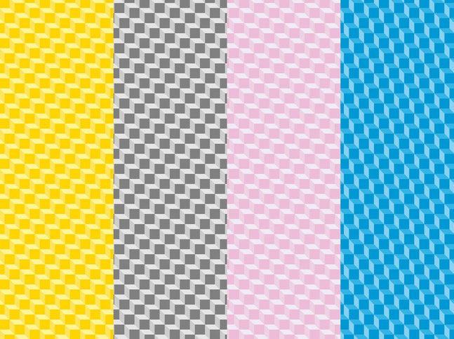 Colorful Patterns With Cubes vector free