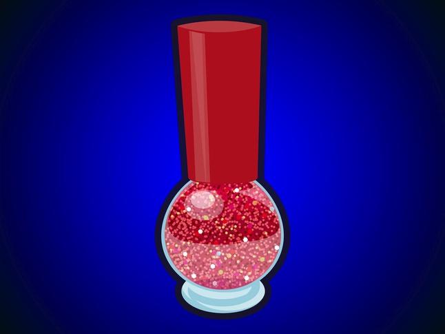 Glitter Nail Polish vector free