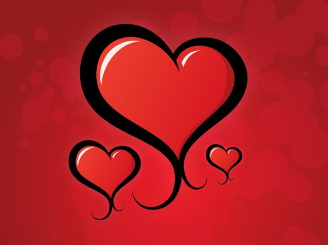 Heart Swirls Vector free