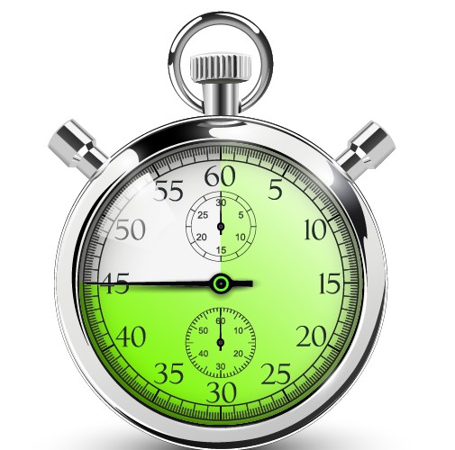 Realistic stopwatch creative vector set 02 free
