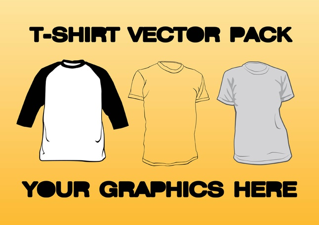 T-shirt Vector Pack free