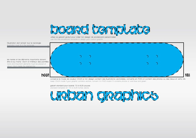 Board Template vector free