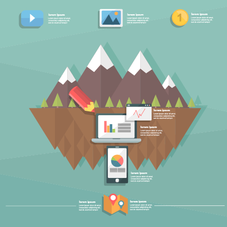 Business Infographic creative design 1394 free