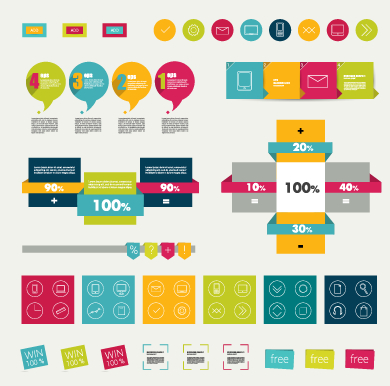 Business Infographic creative design 1441 free