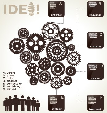 Business Infographic creative design 964 free