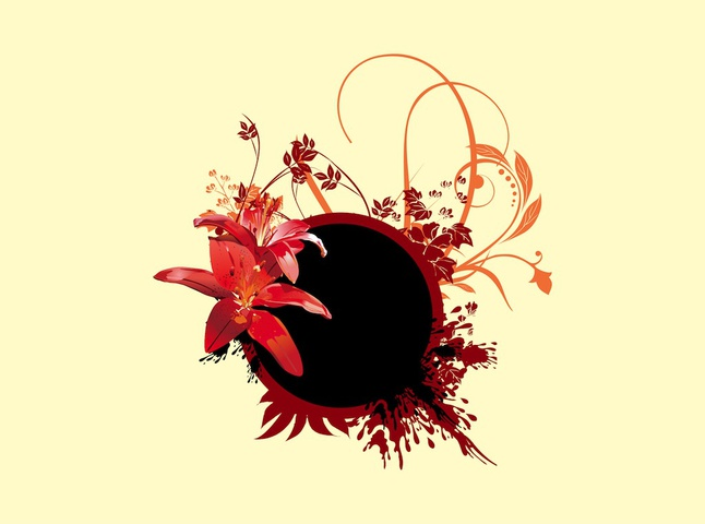 Floral Composition vector free