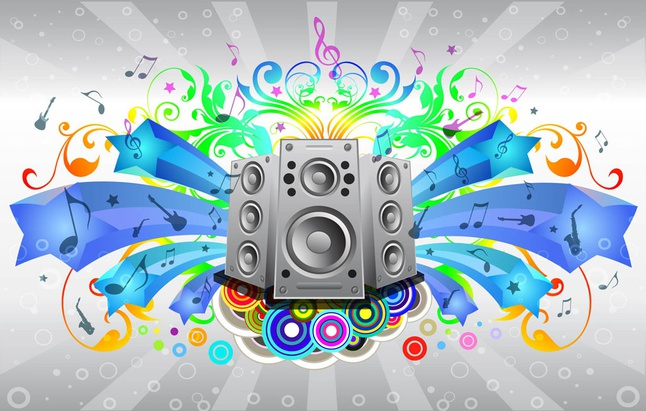 Music Sound System vector free