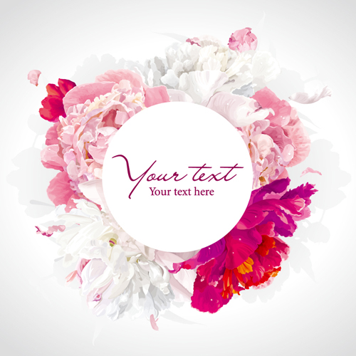 Beautiful Peony Flower Vector Background Graphics Free