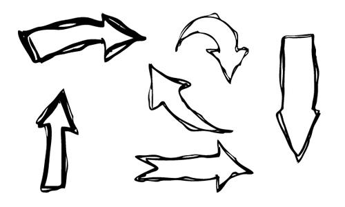hand drawn arrows creative vector free