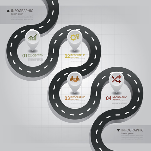 City street traffic Infographic elements vector 02 free
