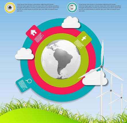 Cloud tech concept template vector 05 free