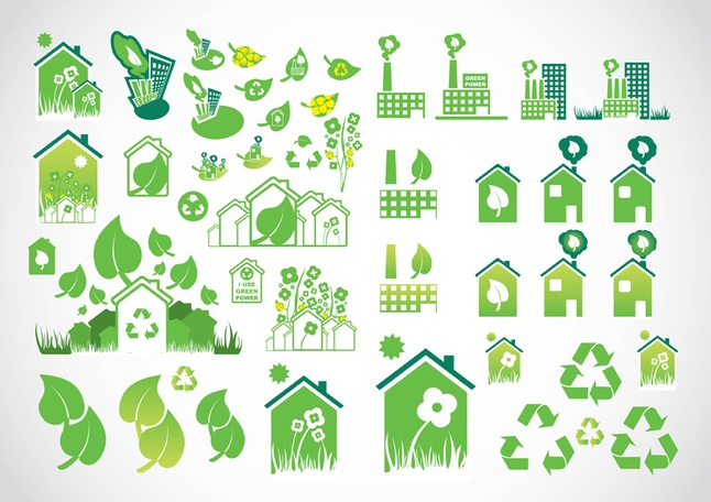 Environmental Icons vector free