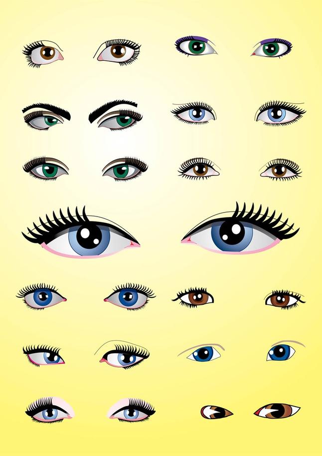 Eyes Pack vector free