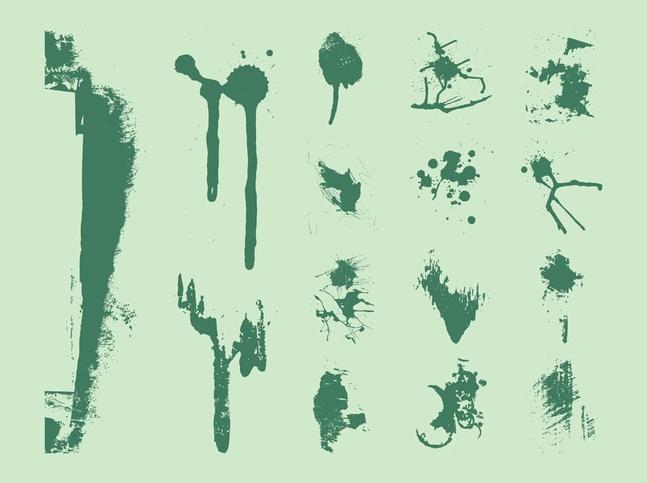 Grunge Splatter Shape vector free