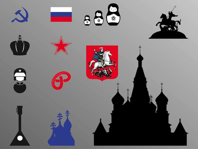 Russian Icons vector free