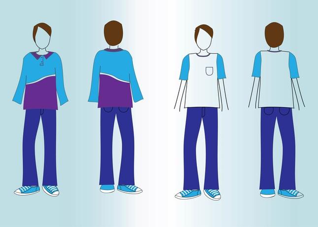 T-Shirt Mockup Vectors free
