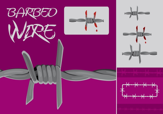Barbed Wire vector free