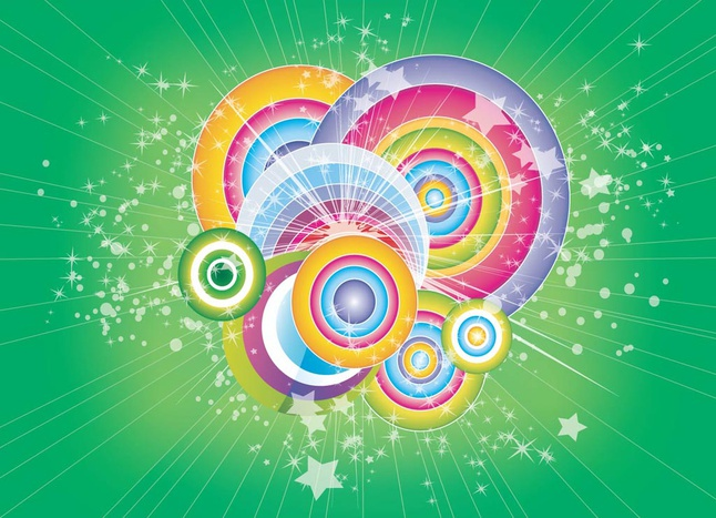 Circles Vector Design free