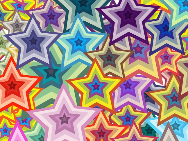 Colorful Stars Background vector free