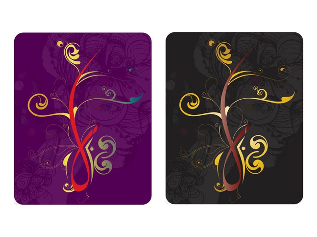 Floral Cards Designs vector free
