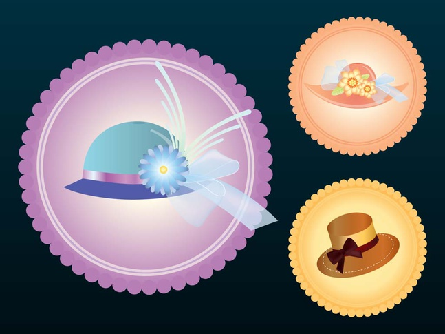Hat Icons vector free