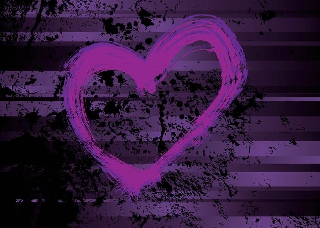 Purple Heart Vector free