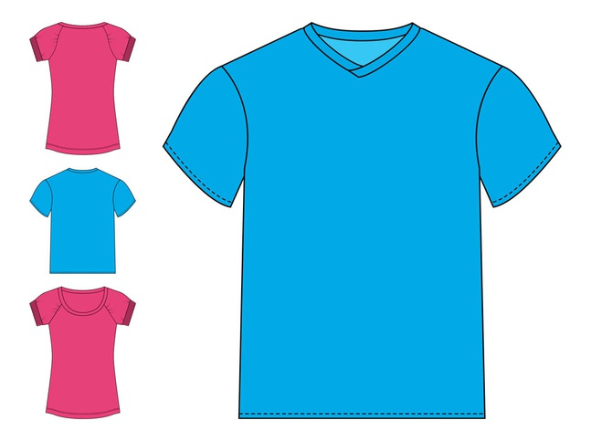 Basic T-Shirts Graphics vector free